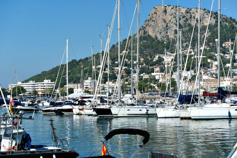 The beautiful harbour at L'Estartit in the Costa Brava