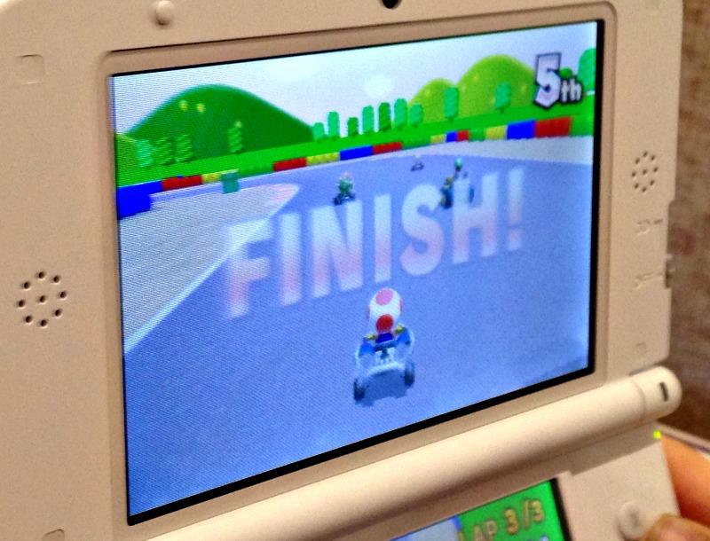 Nintendo 3DS XL screen