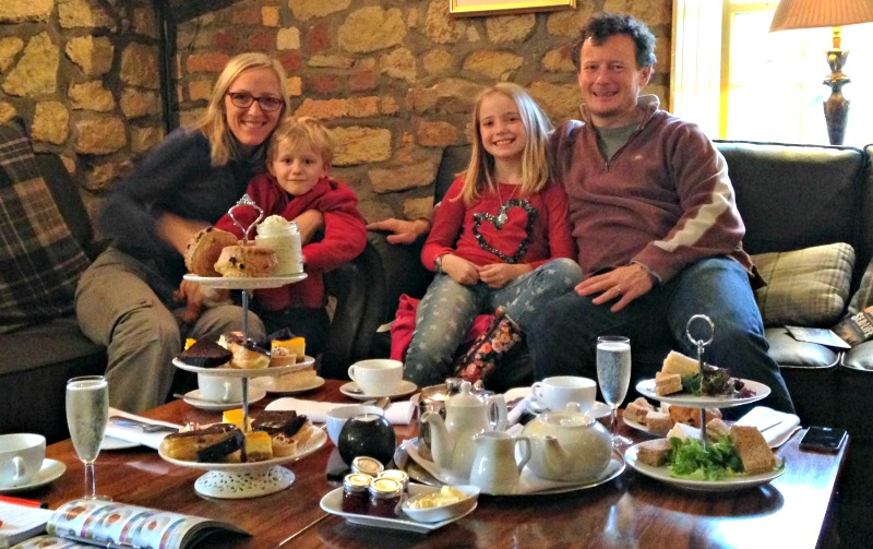 Afternoon tea for families at Ox Pasture Hall hotel