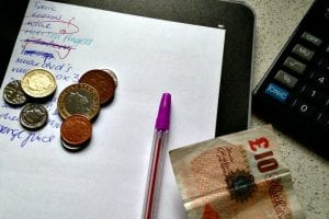 Managing a household budget