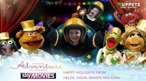 Sky Movies Christmas card