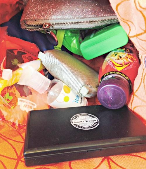 The handbag of a mum