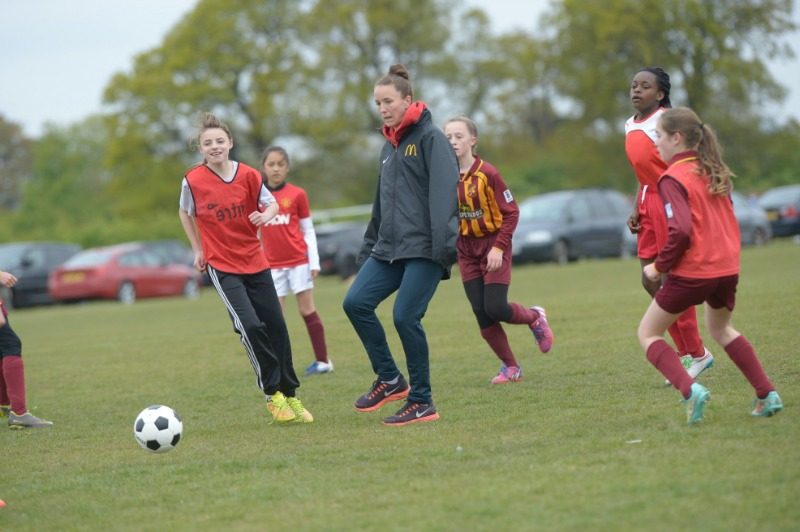 McDonald's Football Mum of the Year Awards - the girls team with Casey Stoney