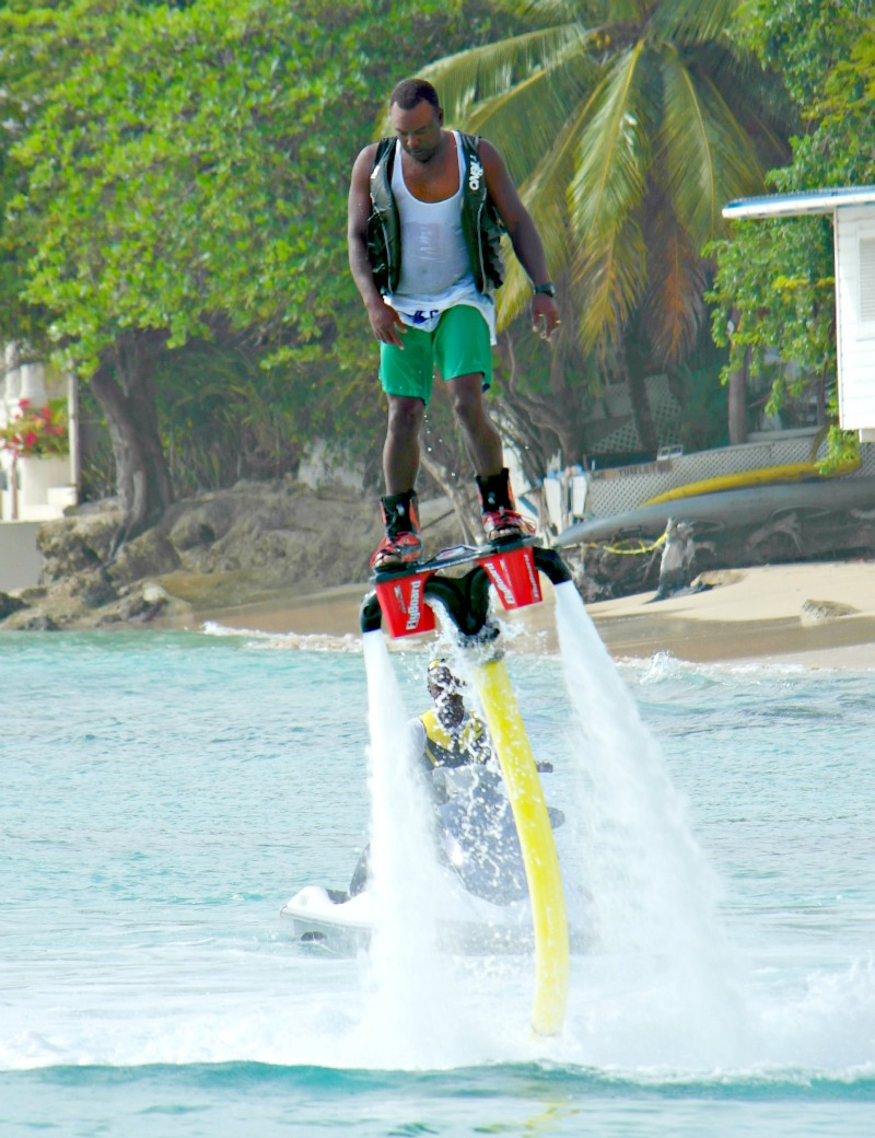 Inflatable sofa's, jetski's, but what is this? Barbados beaches and watersports are the best!