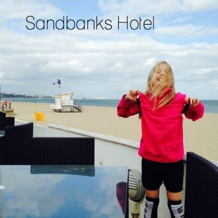 Sandbanks hotel beach