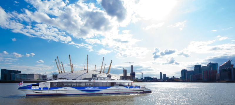 A Thames Clipper is a great way to get from central London to the O2, or just a good way to tour the various sights along the river