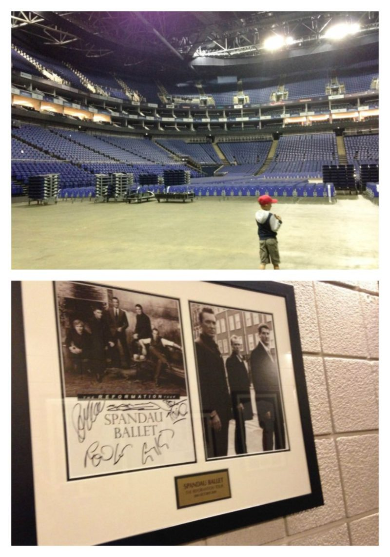 Backstage at the O2