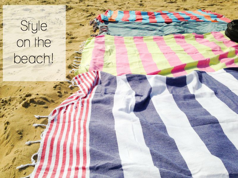 Hammamas towels are the most stylish and colourful on the beach!