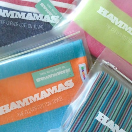 Colourful but clever Hammamas towels are the solution to space-saving on your holiday packing