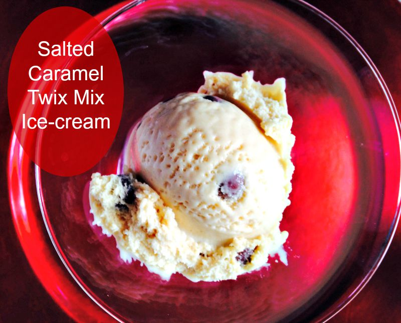 Food: Salted Caramel Ice-Cream recipe with a Twixt
