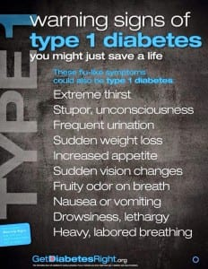 Warning signs of type 1 diabetes. Spot them, before it's too late