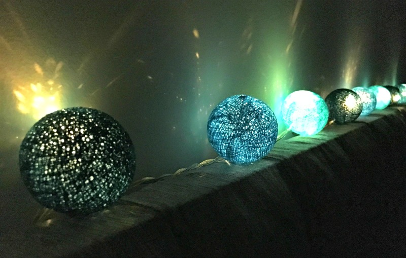 Tween teal bedroom makeover: these turquoise lights from Blaze On make the perfect night light