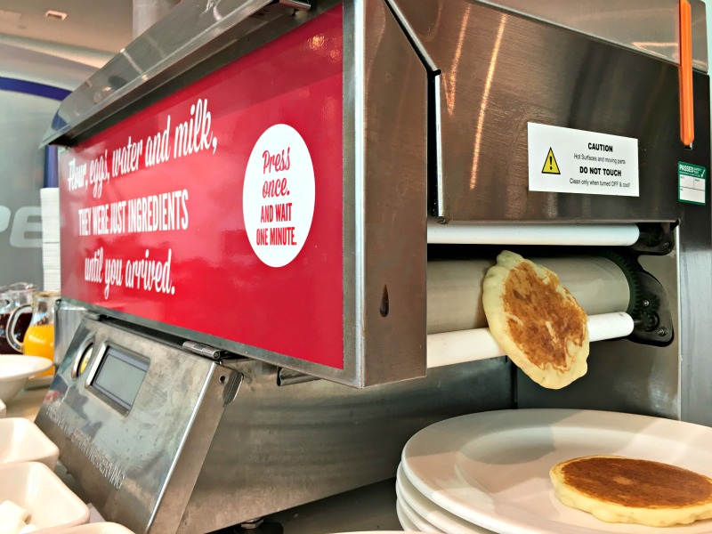 Hanging out in the Virgin V-Room was the perfect start to our Beaches trip - there's a pancake machine!