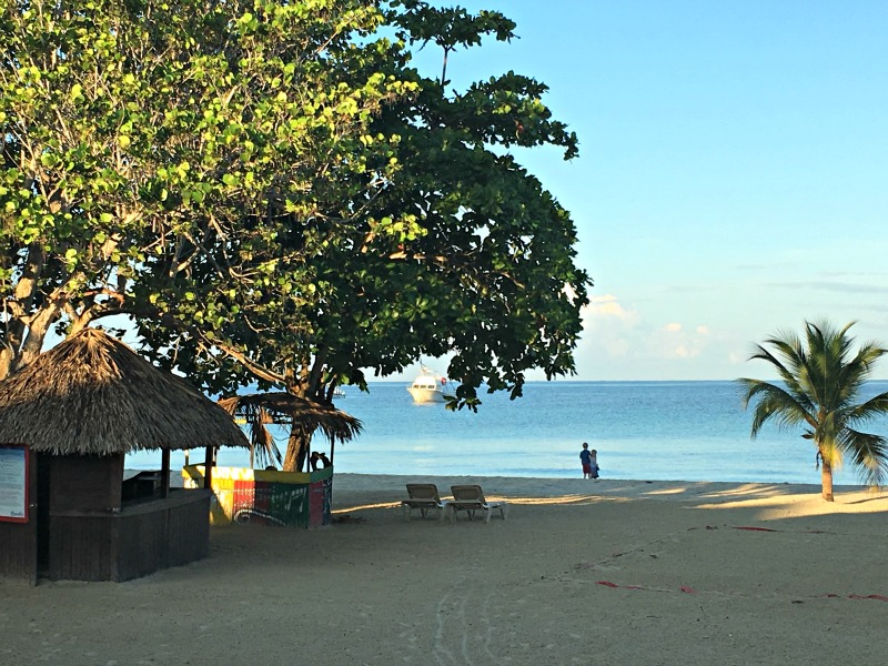 The beach at Negril