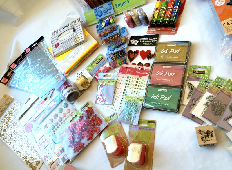 Craft ideas for kids and teens - you can never have too many card-making materials!