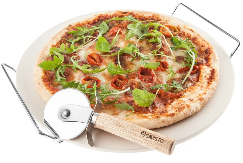 Savisto ceramic pizza stone