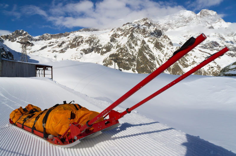 Keeping children safe on a ski holiday - the bloodwagon isn't nice, but if you do need it, a good insurance policy will take away some of the worry