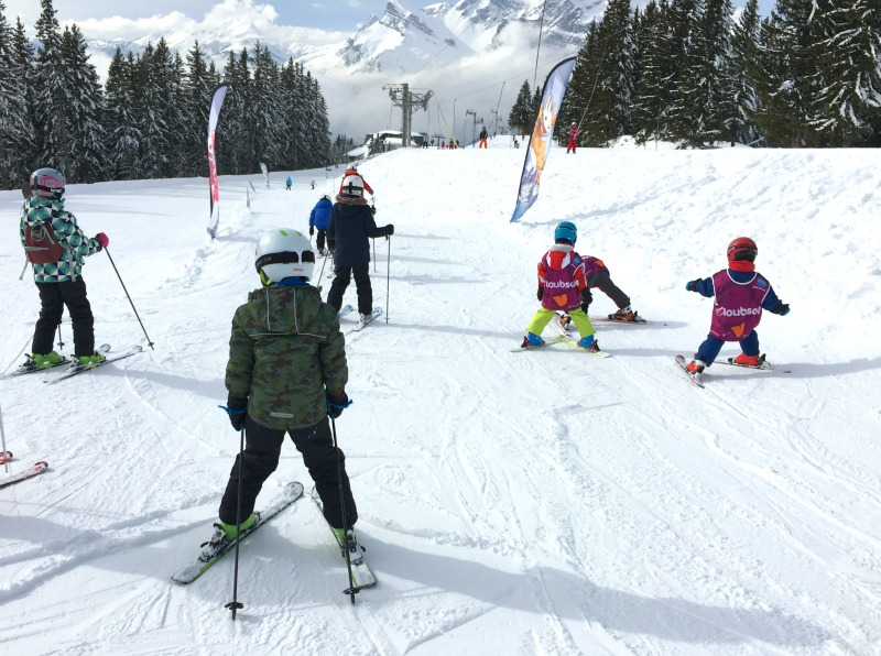 Family ski resort in the French Alps - a fun area for learners to play