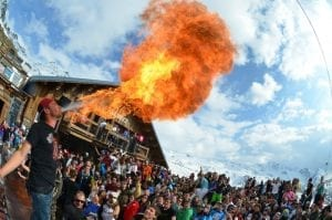 La Folie Douce, at the bottom of Plein Sud - Val Thorens piste guide for families