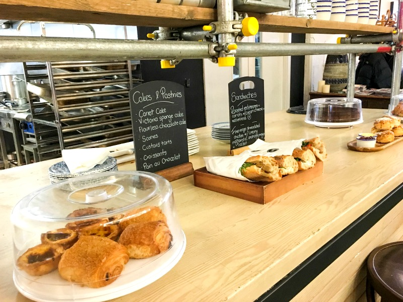 Wringer and Mangle review - pastries and cakes on the bar as you enter encourage a relaxed brunch