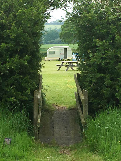 Old Bidlake Farm camping - if a tent isn't your thing, how about an old-fashioned caravan?