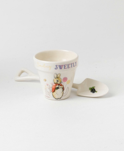 Christening gift ideas - a pretty egg cup and spoon is both traditional and fun for children