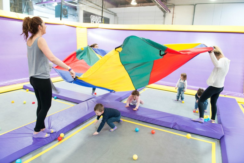 Gravity Force trampoline park holds regular Gravity Tots sessions just for younger children