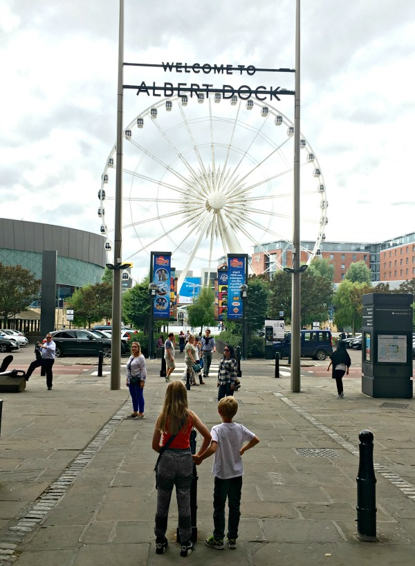 The Echo Wheel at Liverpool's Albert Dock - easy family trips from London to Liverpool