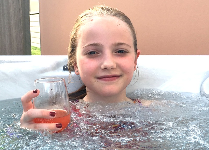 The private hot tubs at Hoseasons Piran Meadows are the perfect luxury at the end of a busy day