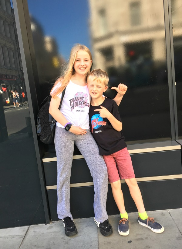 Taking Kids to Planet Hollywood London (review)