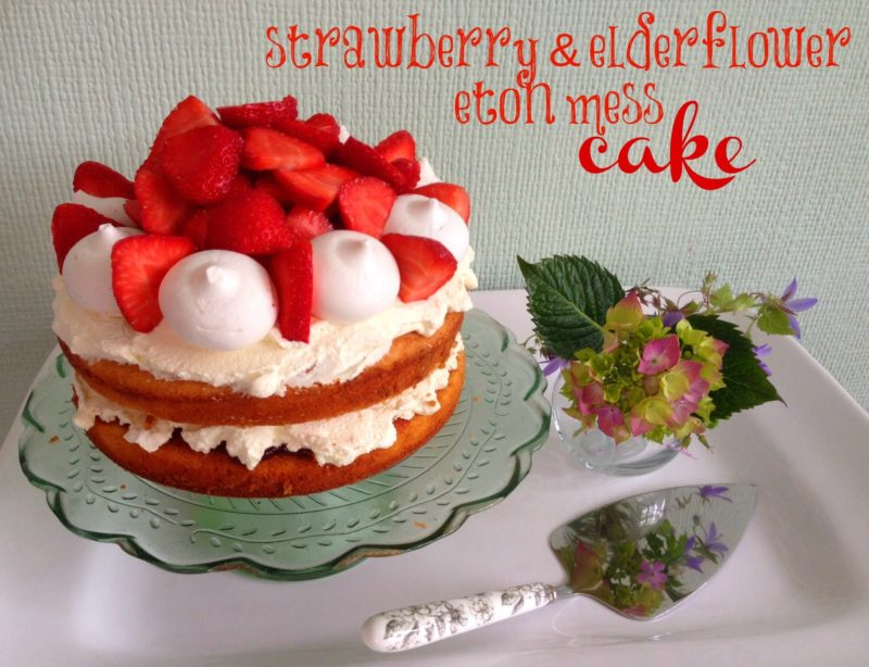 Easy strawberry recipes - this Eton mess cake is a stunning teatime treat
