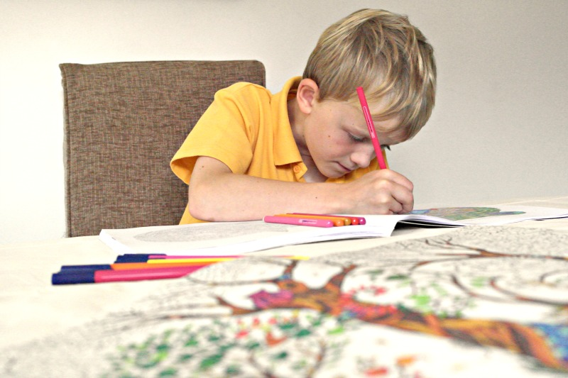It's been the best summer ever, just hanging out with my family, doing simple things like colouring