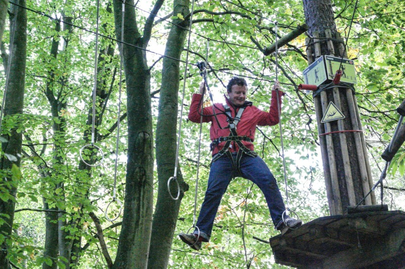 The challenges at Go Ape tree top adventure are numerous, tricky, and fun!