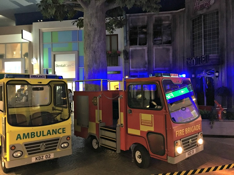 One of the most exciting jobs at Kidzania - putting out the fire and treating injuries