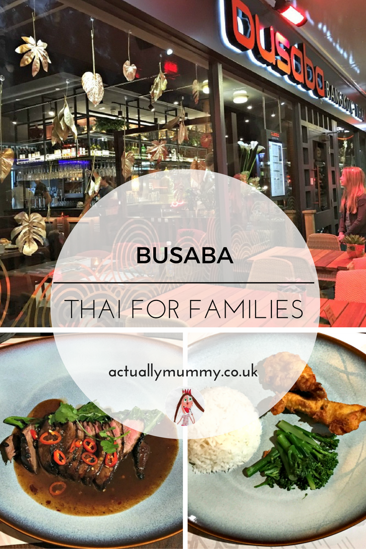 Taking a young family to Busaba - a Thai restaurant that caters well for children