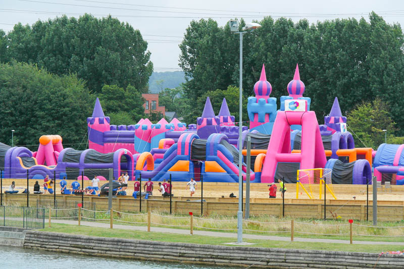 A Beach and Inflatable Play Park at Lee Valley