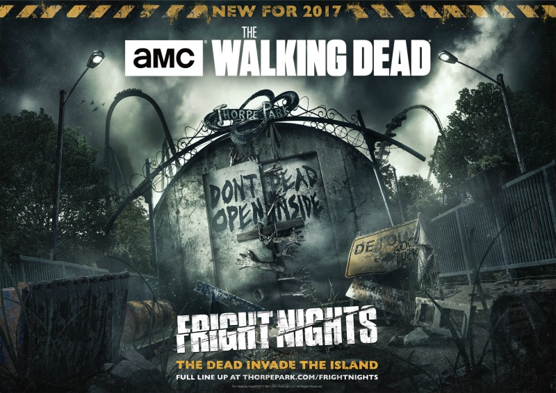 Thorpe Park Fright Nights 2017 Halloween Walking dead mazes - what it's really like - review