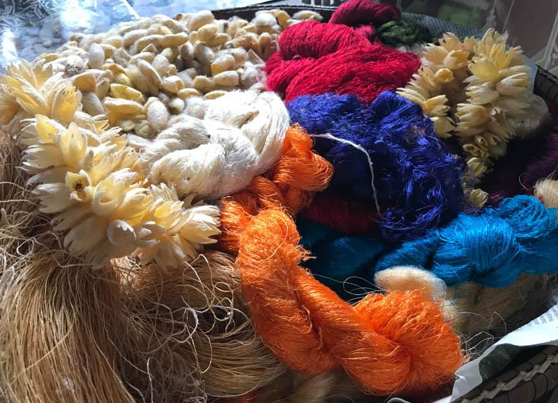 Cambodia family holiday highlights - visiting the silk farm