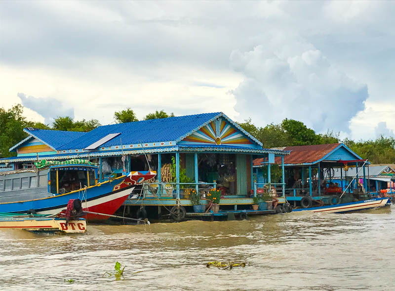 Cambodia family holiday highlights - visiting the floating village of Kompong Kleng, in Tonlé Sap was a fascinating glimpse into real life for many Cambodians