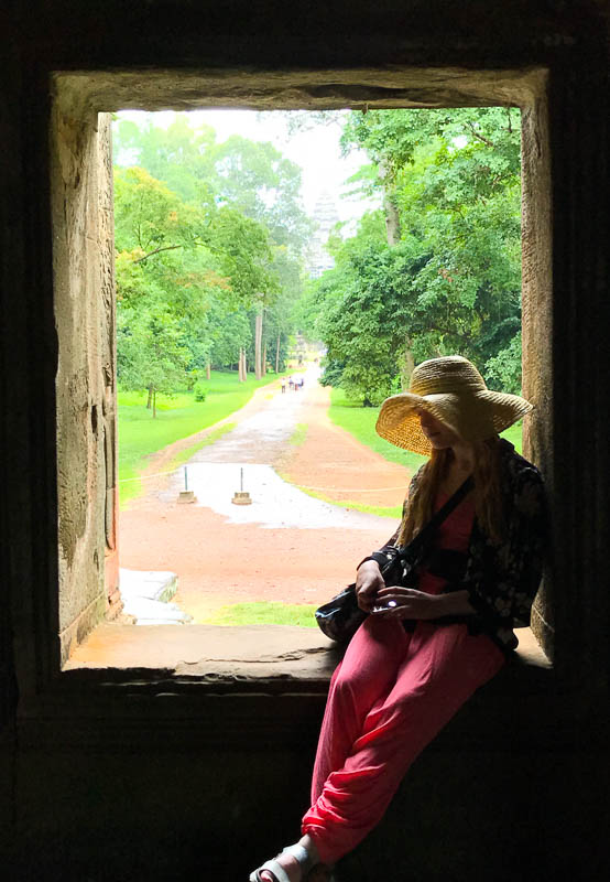 Cambodia family holiday highlights - the many beautiful photo opportunities at Angkor Wat temple