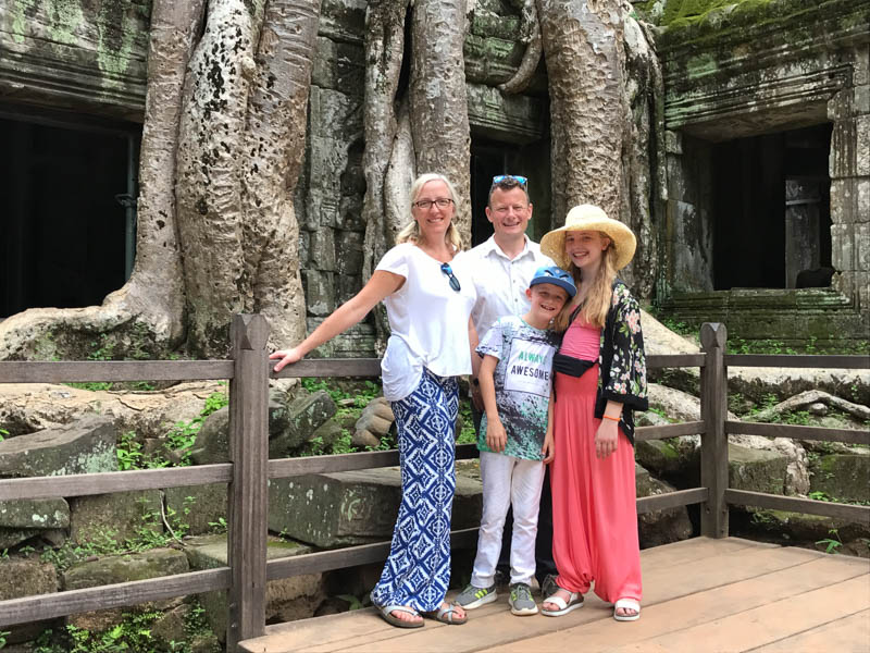 Cambodia family holiday highlights - visiting the temple made famous by Angelina Jolie, in Tomb Raider