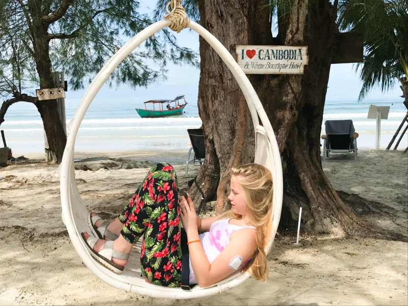 Cambodia family holiday highlights - the beach at Sihanoukville
