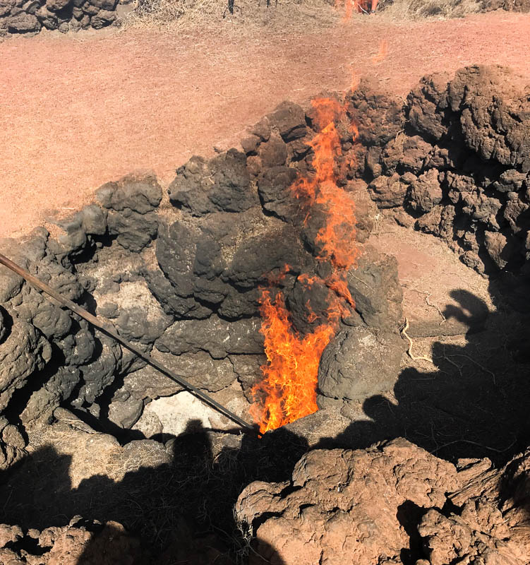 Discovering how the 'Fire Mountains' volcanoes of Lanzarote get their name!