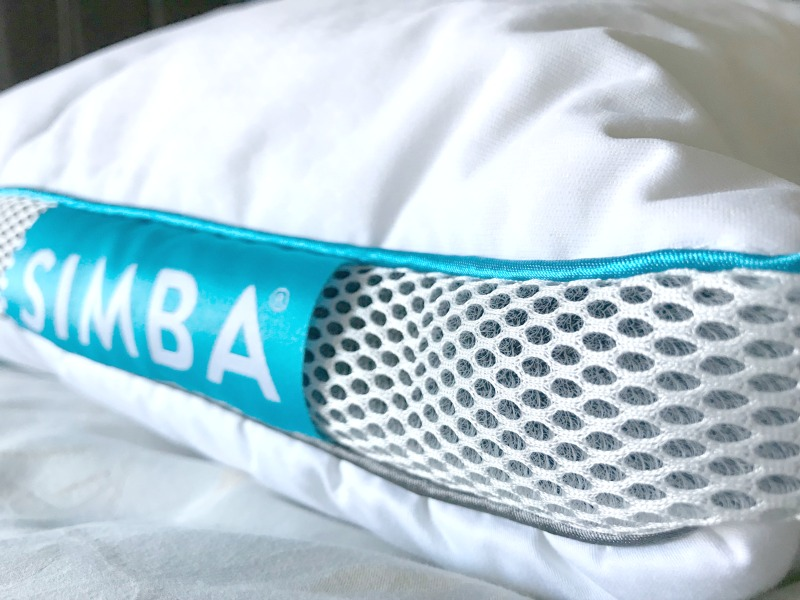 The simba pillow has a breathable mesh side panel to help circulate air - the perfect pillow