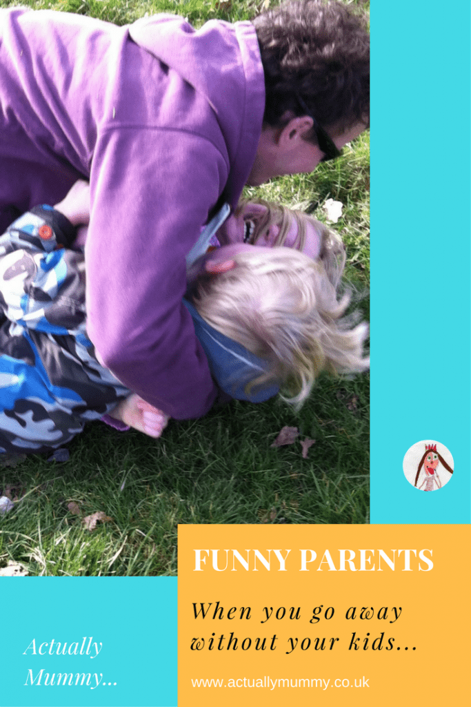 What happens when you go away for the first time since having children, and leave them with your partner. Click through to read our mayhem!