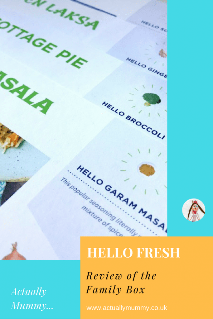 A review of the Hello Fresh family box: what's new, what's different, and does it help..?