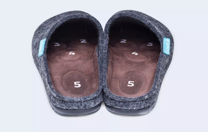 Simba slippers review - the soles have reflexology points!